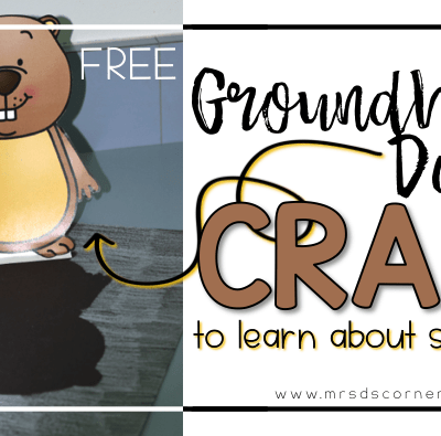 Free Groundhog's Day Craft to learn about shadows. Blog Post at Mrs. D's Corner.