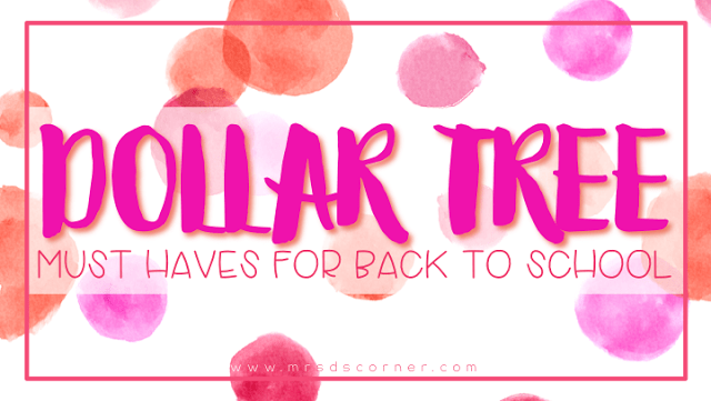 Dollar Tree Must Haves for Back to School
