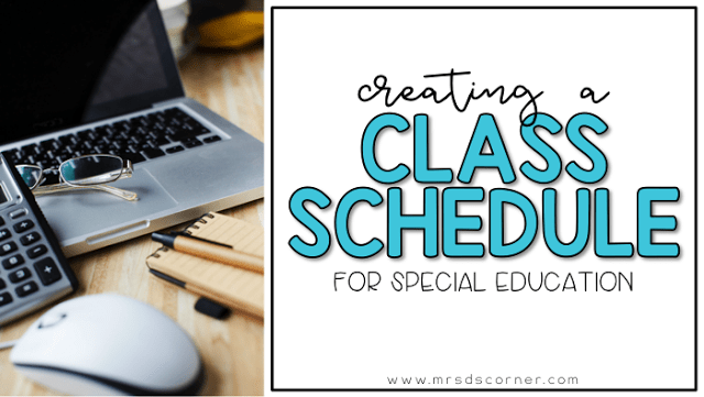 Creating Your Class Schedule for SPED