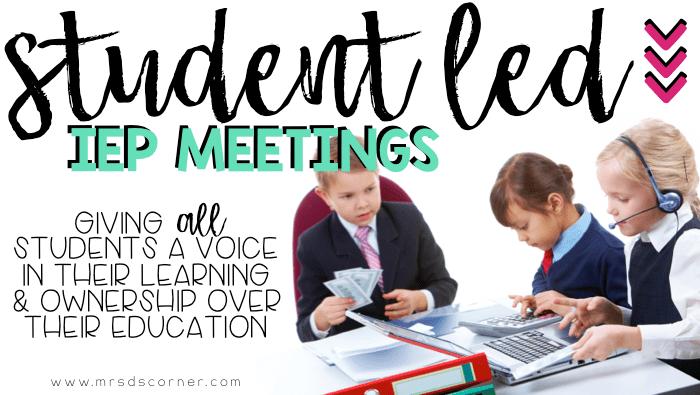 student led IEP meeting header