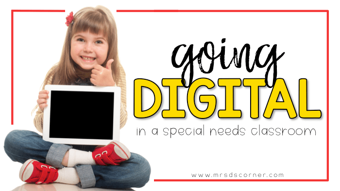 Technology is no longer a thing of the past, and many classrooms are now fortunate enough to be 1:1 or close to it. It's time to prepare for the use of digital resources in special ed. Learn what it looks like, how it works, and everything else at Mrs. D's Corner.