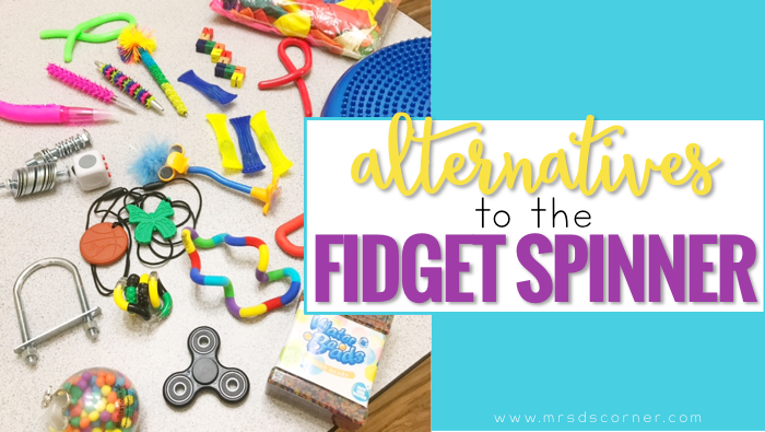 Sensory toys for students with special needs, and alternative sensory input fidgets and toys to the fidget spinner. Recommendations from a special education teacher. Blog post at Mrs. D's Corner.