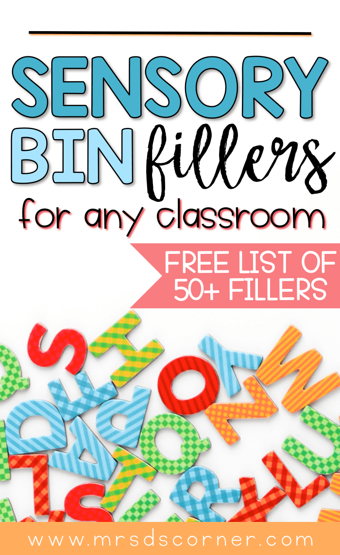 sensory bin fillers list pin