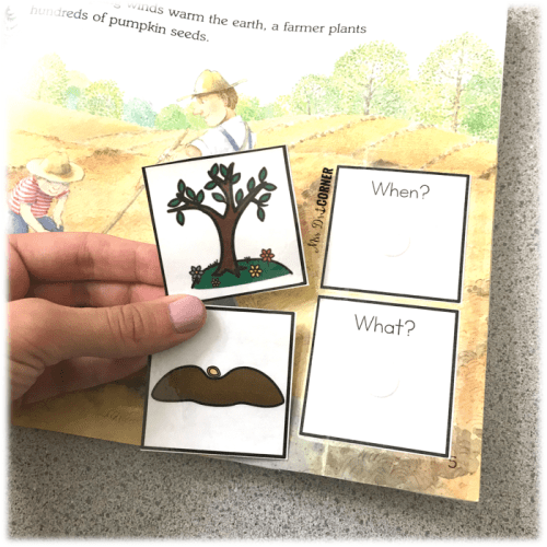 What type of pieces to use and create in an adapted children's book