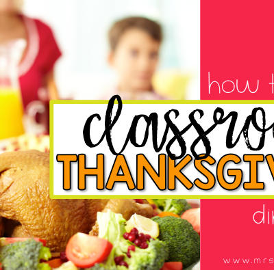 Classroom Thanksgiving Feast in Special Ed