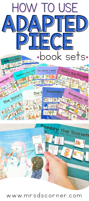 How to use Adapted Books in any classroom setting. Using adapted books in the classroom brings so many benefits to you and your students. Book discussions, comprehension practice, fluency… the list could go on and on. And adapted books aren't just for the special needs classroom or your lower level readers. They're for everyone. Your questions about adapted books answered in this blog post. Only at Mrs. D's Corner.