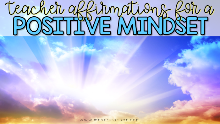 Teaching is hard, but we are strong and capable of doing all the things. Read these 20 teacher affirmations when you feel alone, when you need a pick me up, or just to put some positivity into your day. Blog post at Mrs. D's Corner.