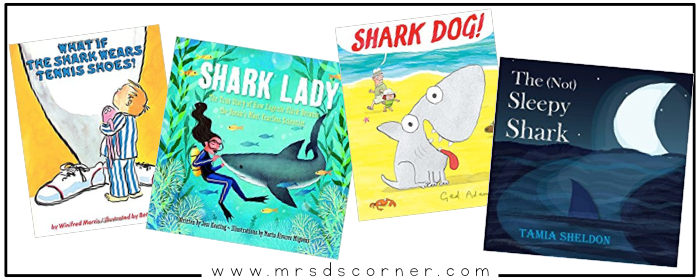 "These books about sharks for kids are informative, somewhat intense, but so important. Sharks are the biggest part of the ocean ecosystem, and sharks need our help. Sharks aren't the ""bad guys"" you see portrayed in the movie Jaws or the highly comedic Sharknado, and I am on a mission to change how my students view sharks... starting with these books. Blog post at Mrs. D's Corner."
