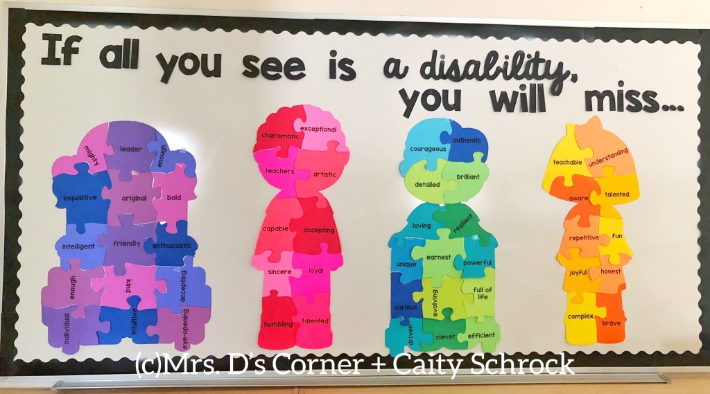 Disability Awareness Bulletin Board Display
