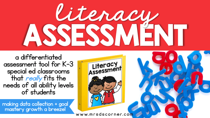 As special education teachers, we often are not provided with appropriate resources to assess our students current levels of learning. Or the resource we are given doesn't meet the needs of all of the learning styles in our classroom. We always make it work though. Learn more about literacy assessment at Mrs. D's Corner.