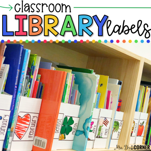 classroom library labels for an organized classroom library.