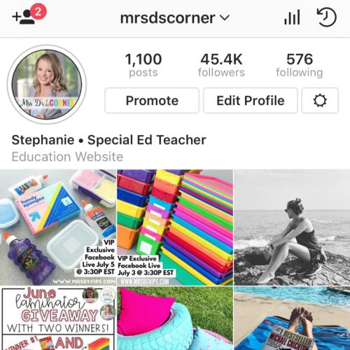 follow teachers on instagram and follow hashtags