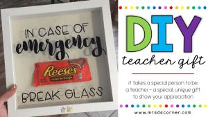 Gift for Teachers or Paras – DIY Emergency Snack Kit