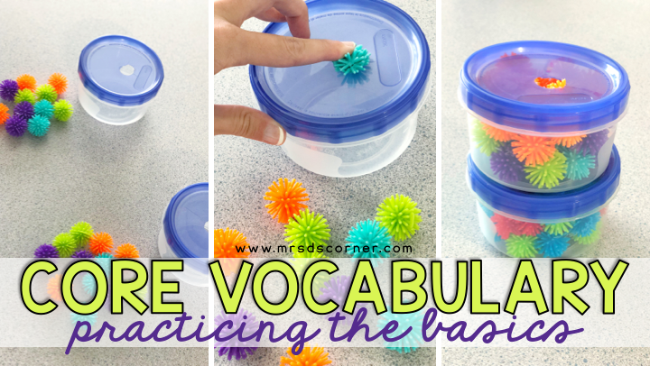 Core Vocabulary: Practicing the Basics