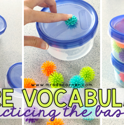 Core vocabulary - practicing the basics with put in tasks