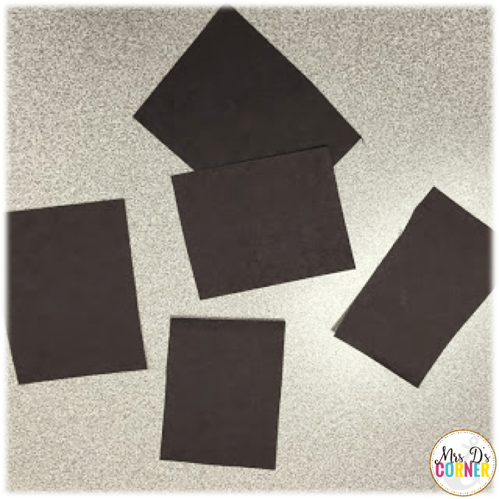 poppy craft - each student gets a cut of black construction paper