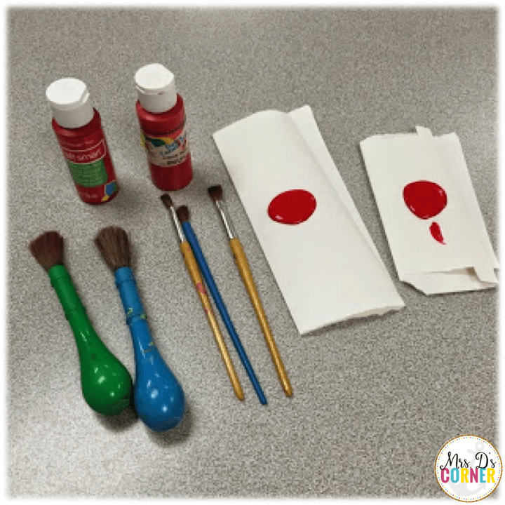 poppy craft - give each student a little bit of red paint