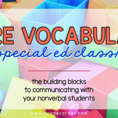 core vocabulary in a special education classroom - blog header