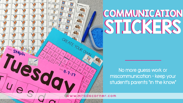 Communication Stickers | Simple, Sticky Way to Communicate with Parents