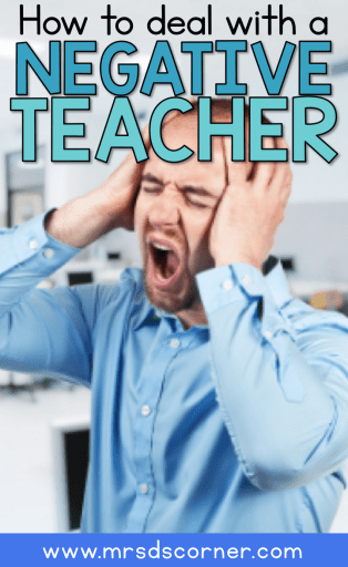 Here are some tips from veteran teachers to help you cope if you are dealing with a negative teacher down the hall. Tips at Mrs. D's Corner.