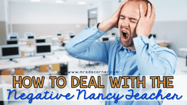 how to deal with a negative teacher blog header
