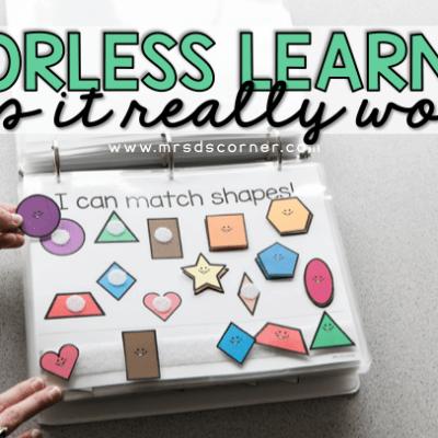 errorless learning blog header. mrs ds corner.
