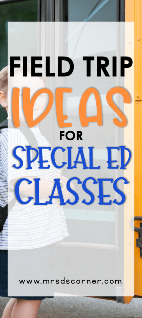 A list of ten field trips for special education as shared by veteran special education teachers. Includes ideas for each field trip. At Mrs. D's Corner.