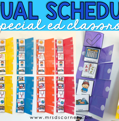 visual schedules in special ed blog header