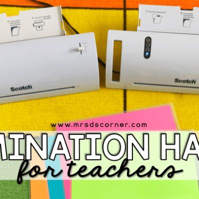 lamination hacks for teachers blog header