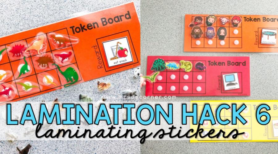 laminating stickers blog post header