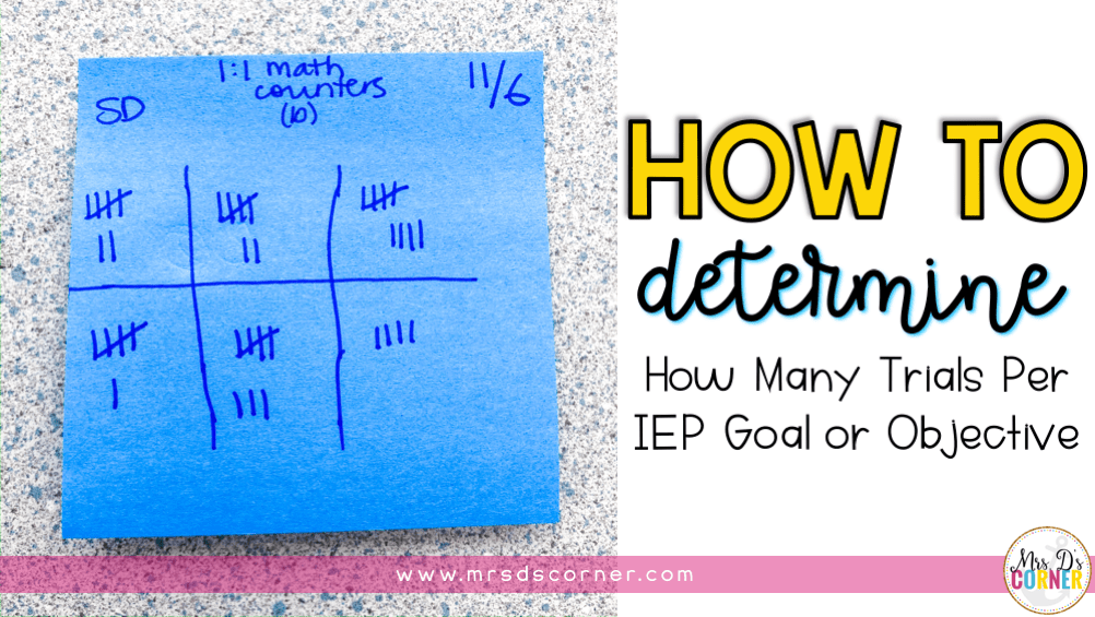 Determining How Many Trials Per IEP Goal or Objective