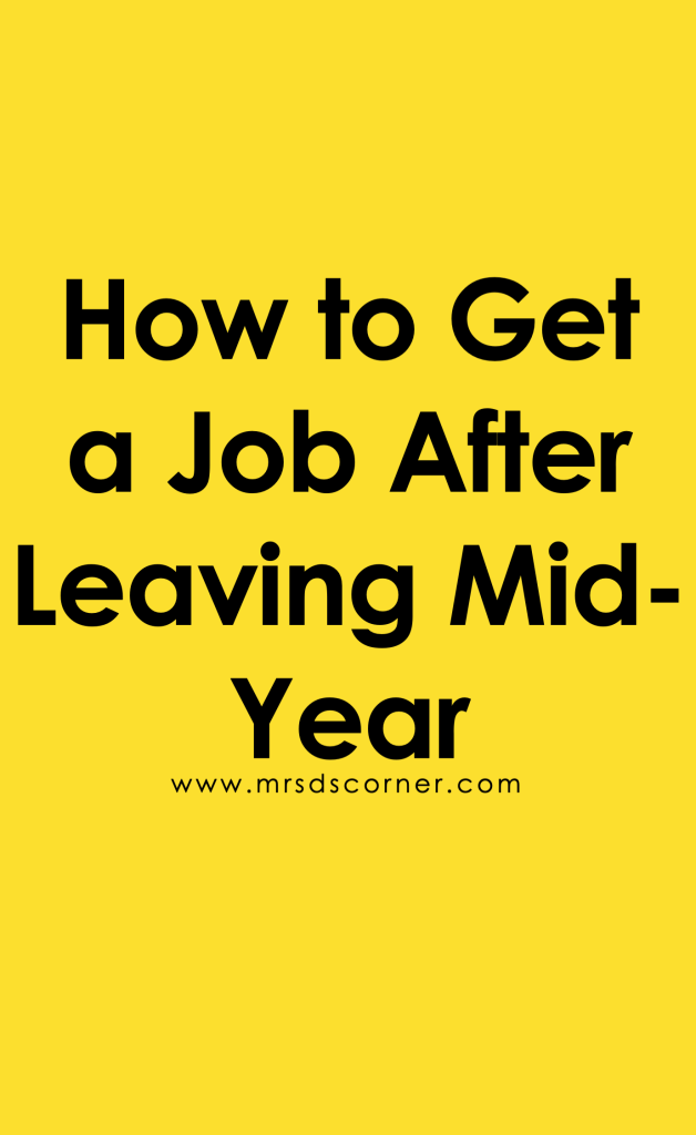 How to Get a Teaching Job After Leaving Midyear Pinterest Image