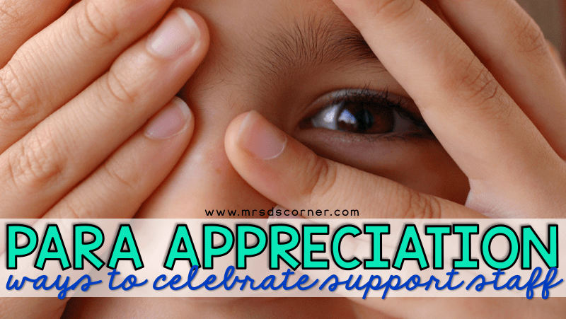 Paraprofessional Appreciation Ideas