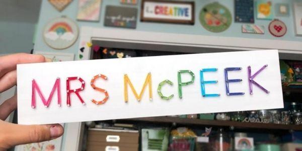 Teacher String Art Sign from The Honaker Homemaker