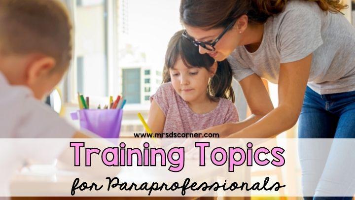 Training topics for Paras