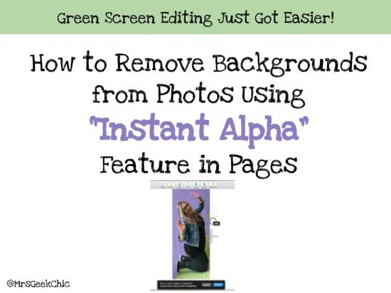 Instant Alpha green screen editing
