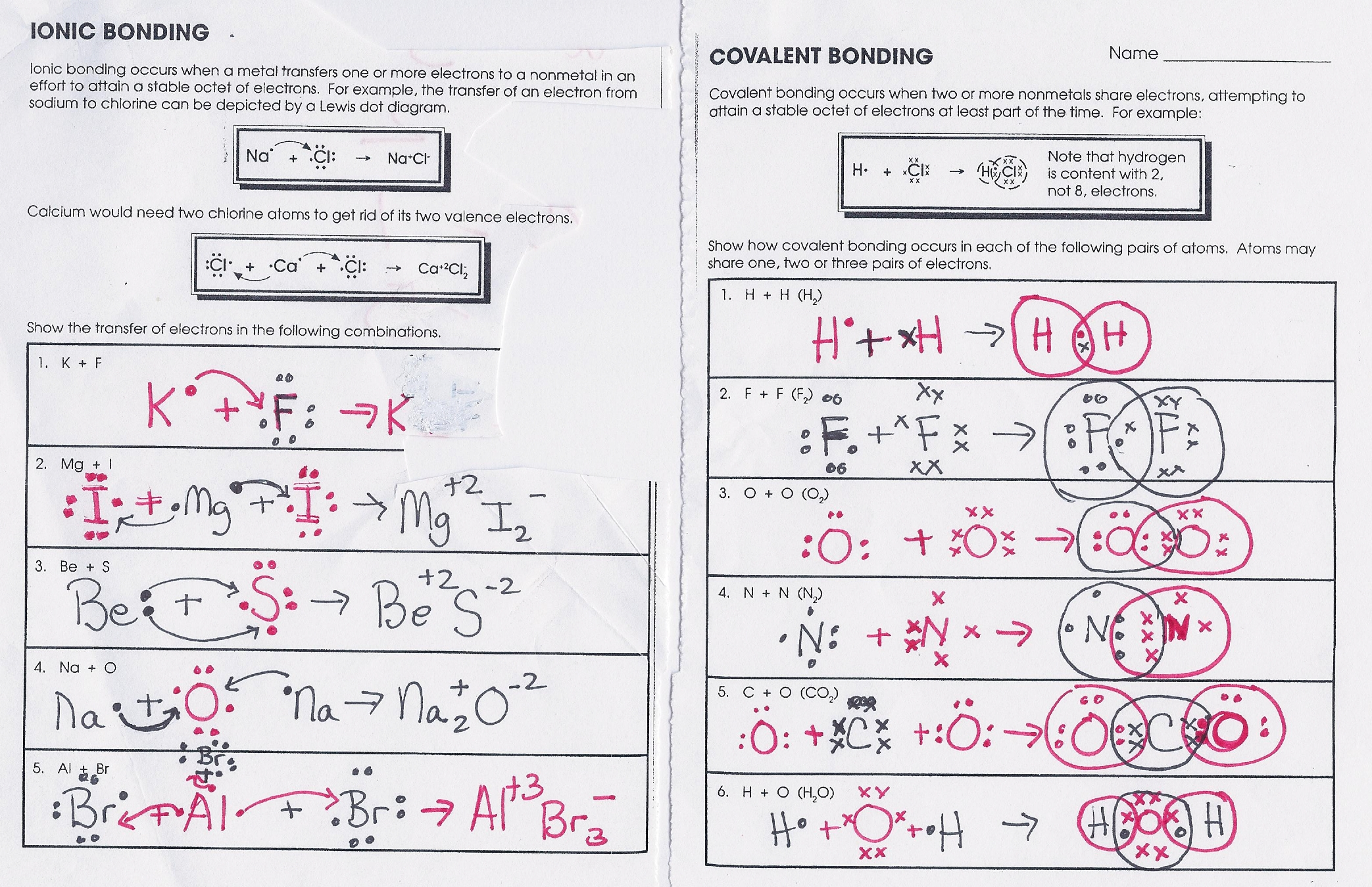 31 Ionic Bonding Worksheet Answers
