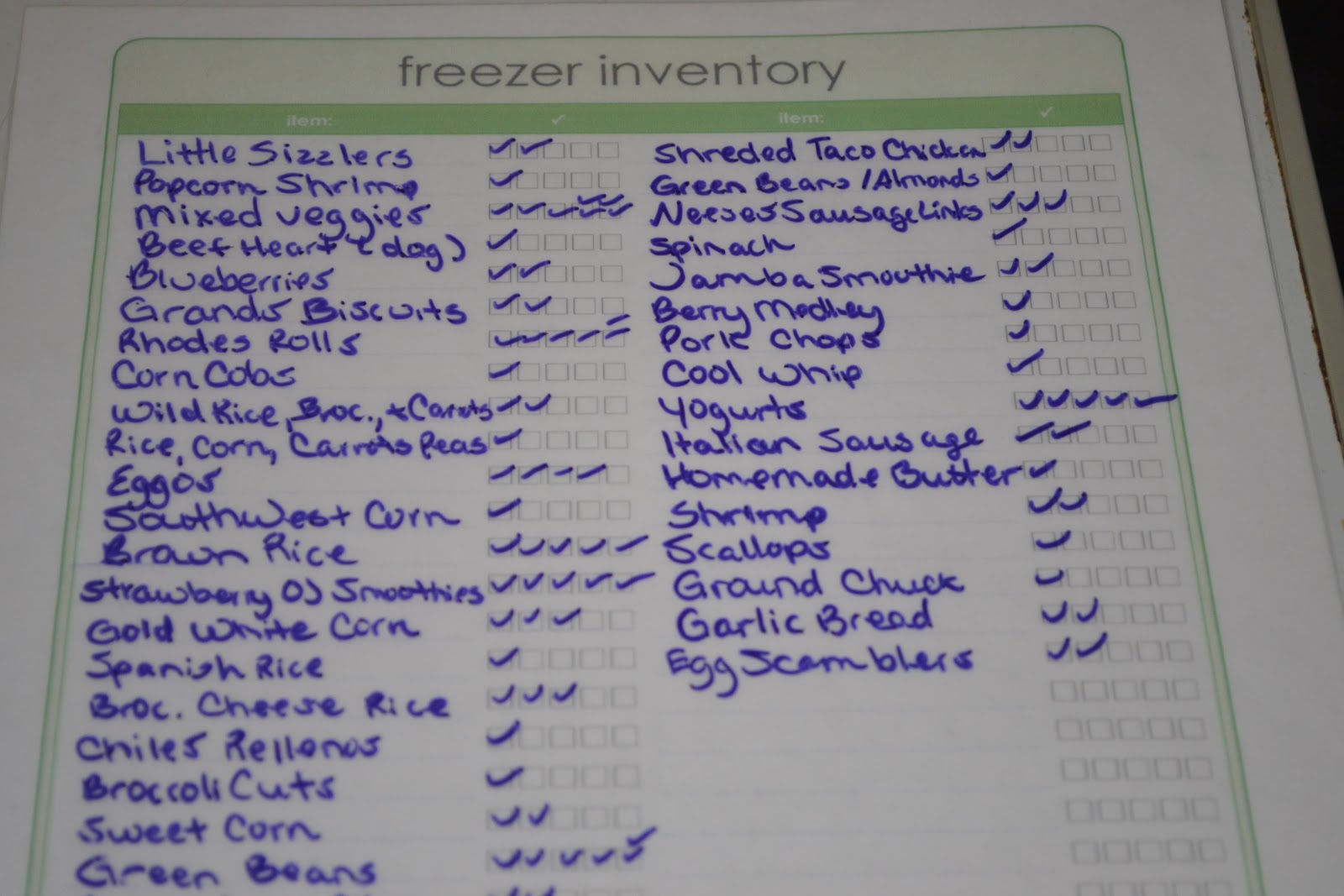 Know What S In Your Freezer Free Printable Freezer