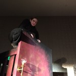 The set for Mrs. Hawking at Arisia 2015