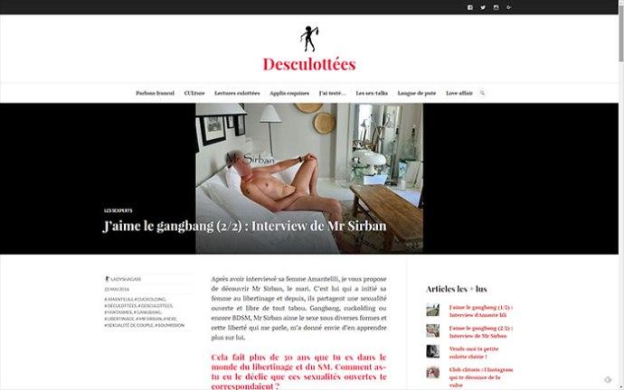 Mon Interview sur Desculottées, le site de Lady Shagass, en cliquant sur la photo