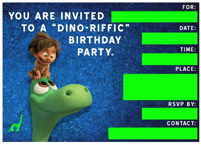 free good dinosaur birthday party