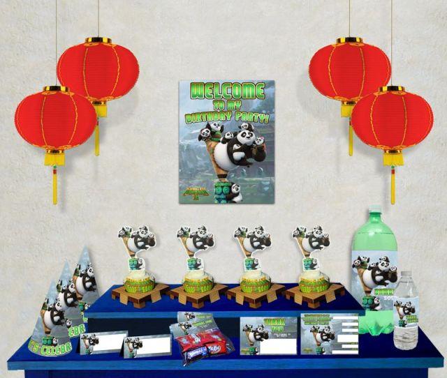Kung Fu Panda  Printable Party Decoration Pack Looking To Plan A Kung Fu Panda