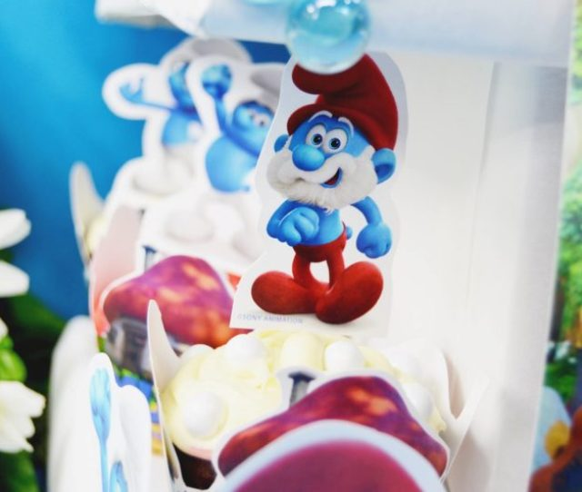Smurf Decorations For Birthday Party Rumahblog Wallpaper