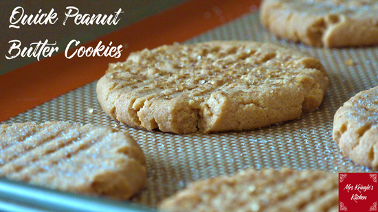 Quick Peanut Butter Cookies
