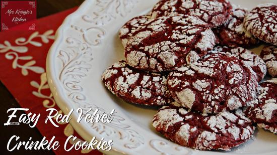Easy Red Velvet Crinkle Cookies