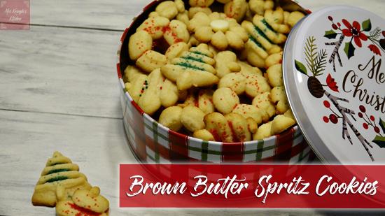 Brown Butter Spritz Cookies
