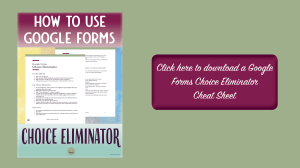 Google Forms Choice Eliminator | educational technology | education teaching | first year teaching | first year teacher | instructional technology