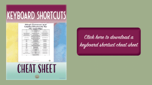 keyboard shortcuts | how to type faster | educational technology | PC | Mac