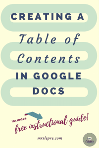 Creating a Table of Contents in Google Docs   Table of Contents   How to use Google Docs   Google Docs   Educational Technology