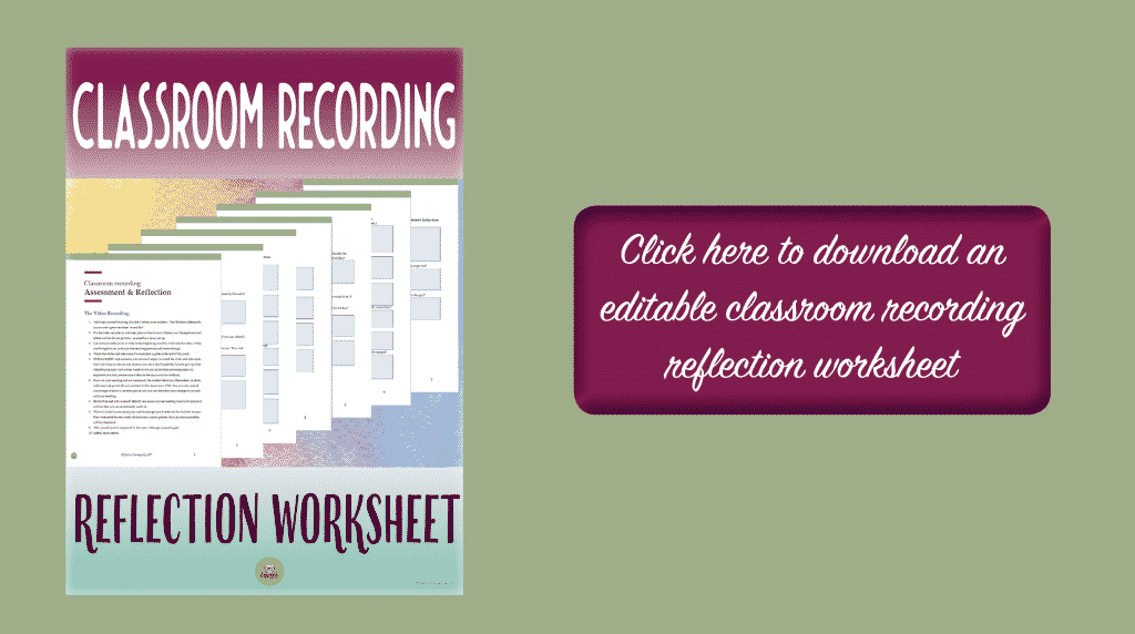 classroom recording to improve teaching